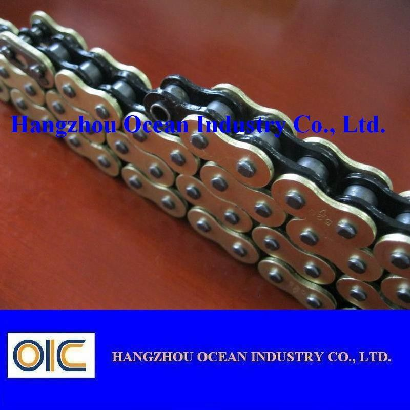 custom 520 x ring motorcycle chain with black inside. Black Bedroom Furniture Sets. Home Design Ideas