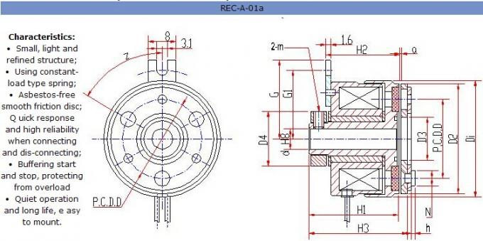 Electromagnetic Clutches And Brakes , Friction Clutches REC-A-02-6PK,REC-A-02-7PK,REC-A-02-2G,REC-A-02-4G